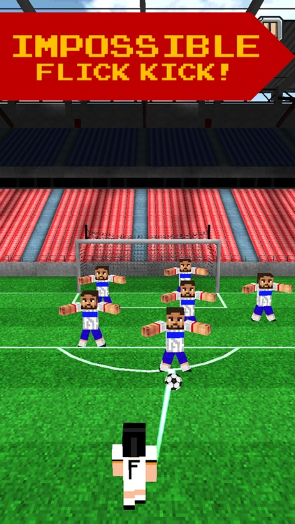 Pixel Soccer - Flick Free Kick screenshot-3