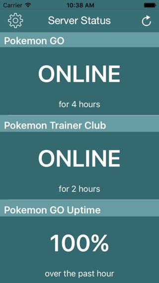 Poke Server Status Check for Pokemon Go Screenshot