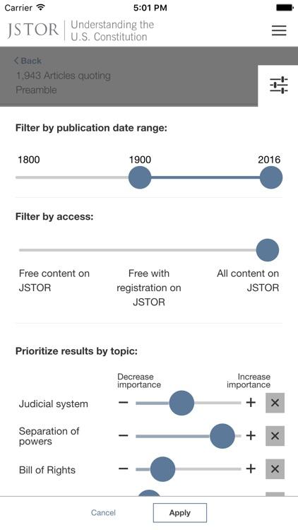 Understanding the U.S. Constitution from JSTOR Labs screenshot-3