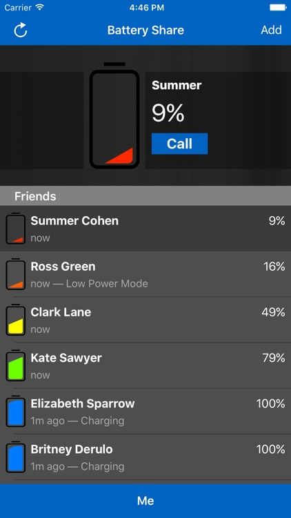 Battery Share - Track Your Friend's Battery / Send Low Battery Notifications screenshot-3