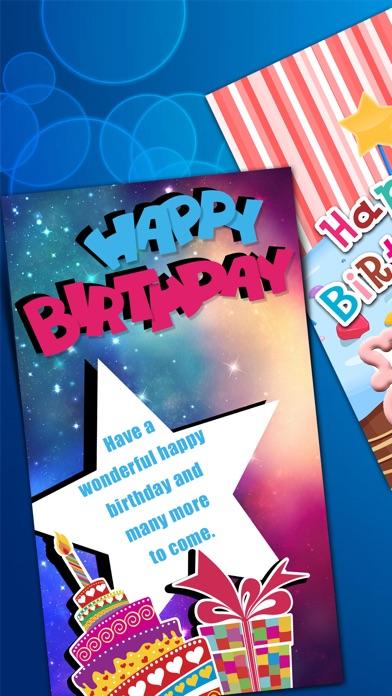 Virtuelle Geburtstag Kartenhersteller - Alles Gute Zum Jubiläum mit Bunten Hintergrund und TextScreenshot von 3