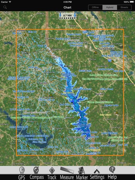 Toledo Bend GPS Nautical charts Pro screenshot-4