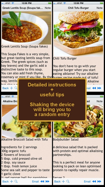 Alkaline Diet Recipes Plus+ screenshot-0