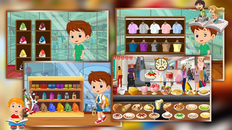 Supermarket Boy School Shopping - Learn to buy uniform, lunchbox & shoes in crazy Super market