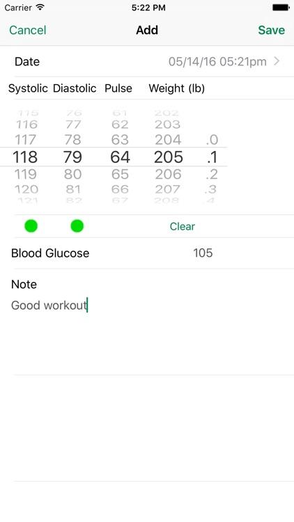 iBP Blood Pressure screenshot-4