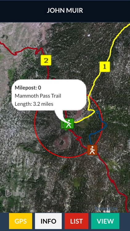 John Muir Trail Map Offline screenshot-1
