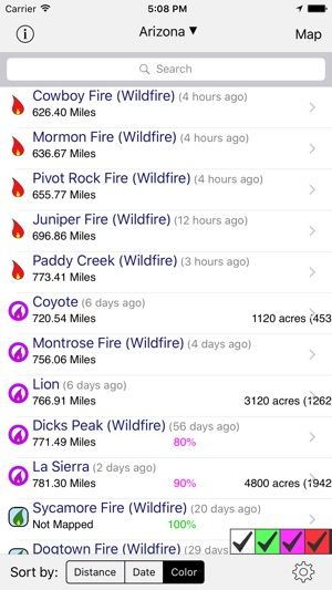 Current Fire Map Montana.Us Fires On The App Store