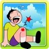 膝盖手术 - 疯狂的医生外科医生和腿部受伤治疗的游戏