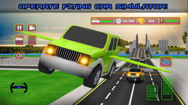 Futuristic Kids Flying Cars - Real Baby Jet Racing Simulator
