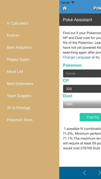 Poke Assistant for Pokemon Go - CP & IV Calculator,Best attacker,Evolver App-2