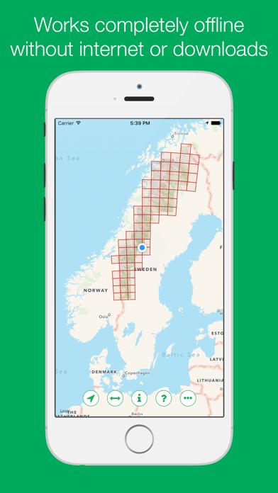 Swedish Mountain Maps screenshot two