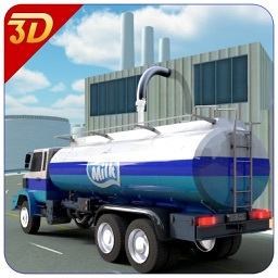 Milk Supply Transporter Truck - Real 3D cargo transport trucking simulation game