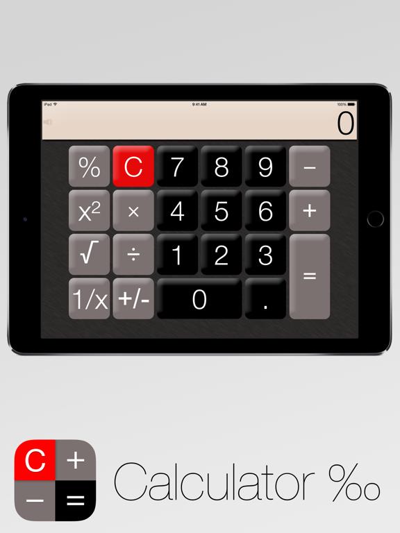 Screenshots of Calculator‰ for iPad