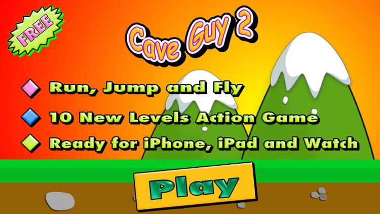 Cave Guy 2 - Arcade and Action Game Challenge screenshot-0