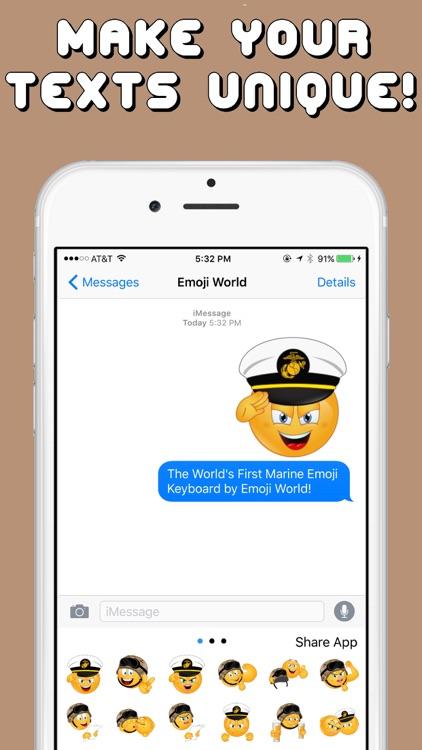 Marine Emojis Keyboard Memorial Day Edition by Emoji World screenshot-3