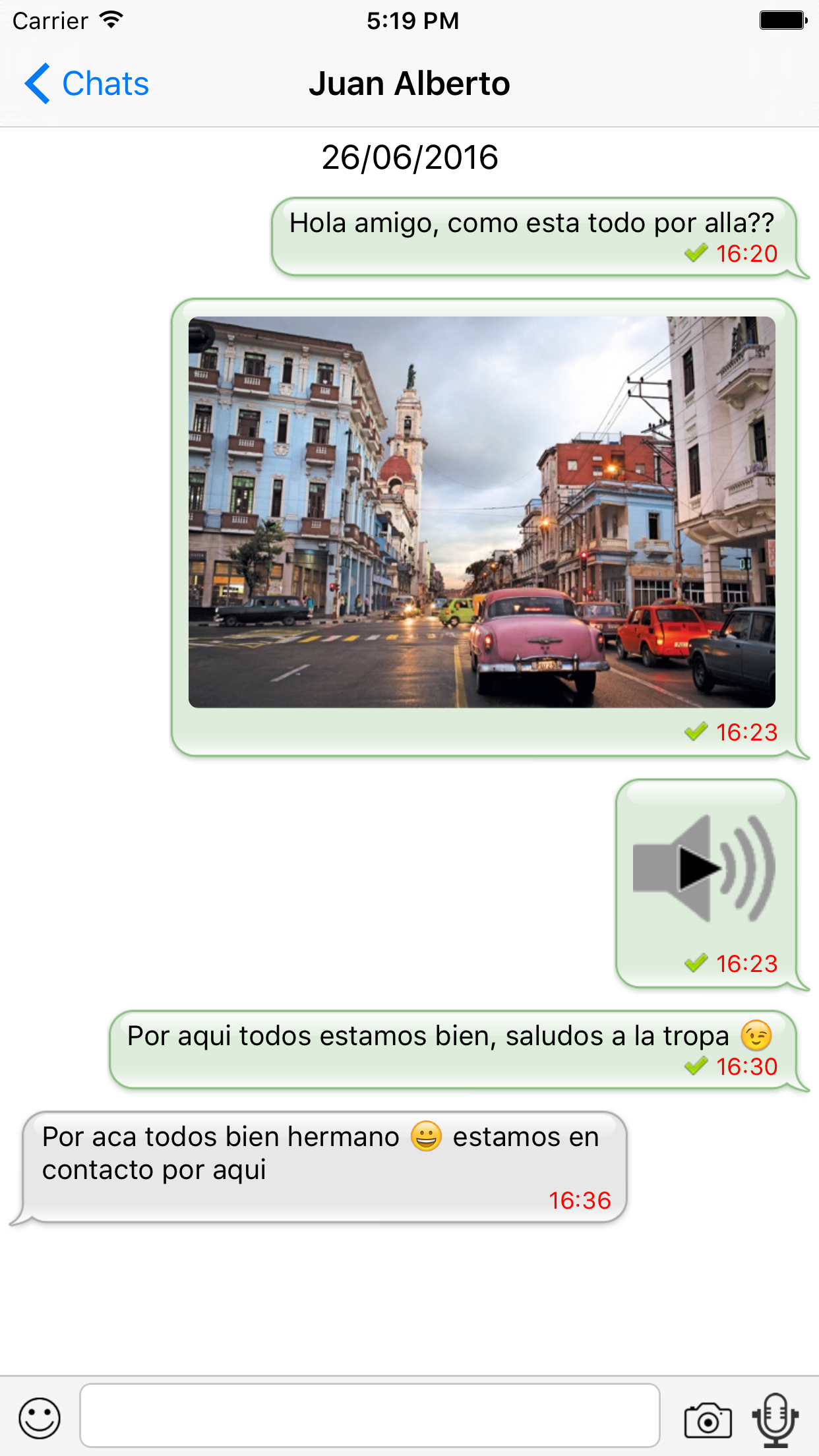 CubaMessenger Screenshot