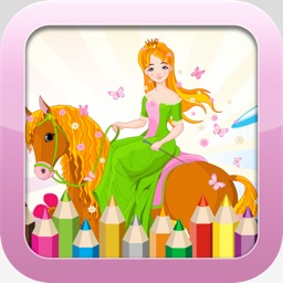 Princess Coloring Book -  Educational Color and  Paint Games Free For kids and Toddlers
