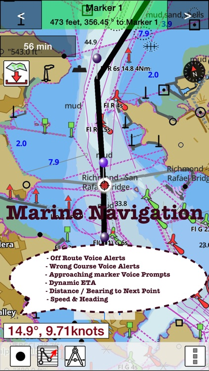 i-Boating: Canada & USA - Marine / Nautical Navigation Charts for fishing & sailing screenshot-3