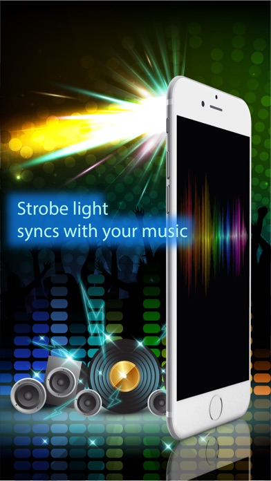 Night club strobe light-synced with your music screenshot one