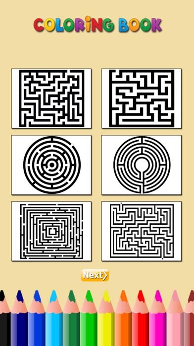 迷宮著色書:學習找到迷宮寶藏,為兒童免費遊戲屏幕截圖2