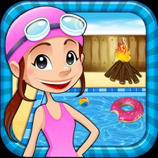 Activities of Pool Party & Bonfire - BBQ cooking adventure & chef game