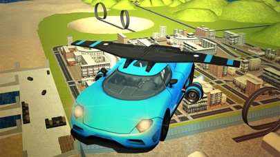 Flying Sport Car Extreme Real Racing 3d simulator