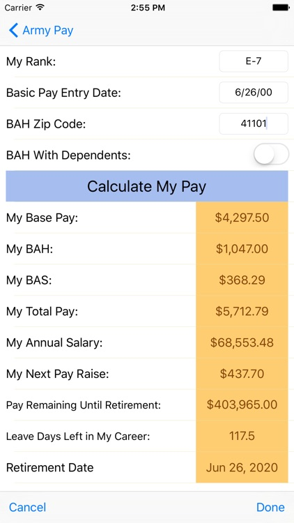 Army Pay