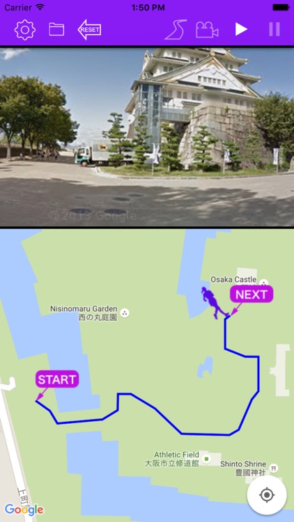 Course Preview App - picturization of running scene