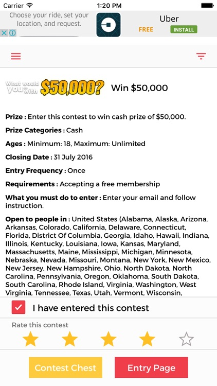 ContestChest com - Find contests and sweepstakes to enter by