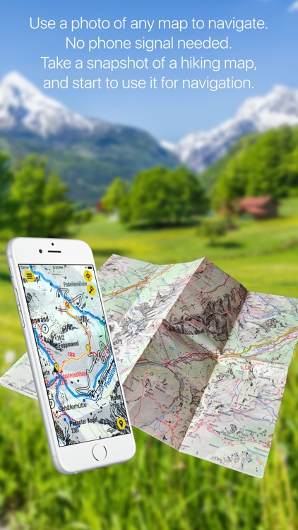 AnyMap - Offline GPS Navigation On ANY PRINTED Map