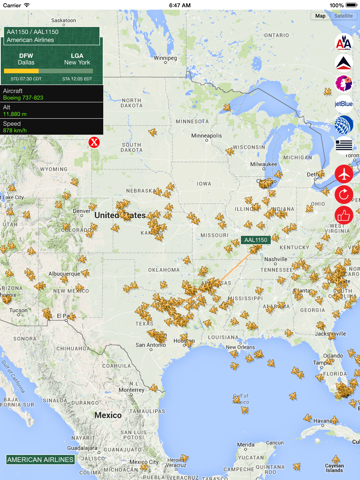 USA Tracker PRO : Live Flight Tracking & Status-ipad-1
