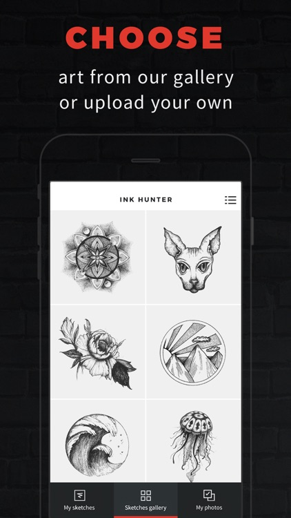 INKHUNTER try tattoo designs in augmented reality screenshot-0