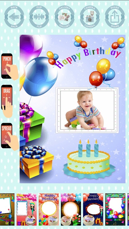 Happy birthday frames to create cards with photos screenshot-3