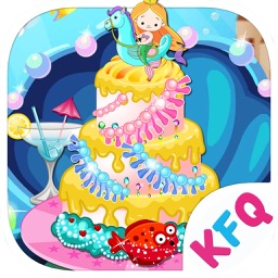 Mermaid cake decoration – Beauty Salon & Dessert Decoration Game