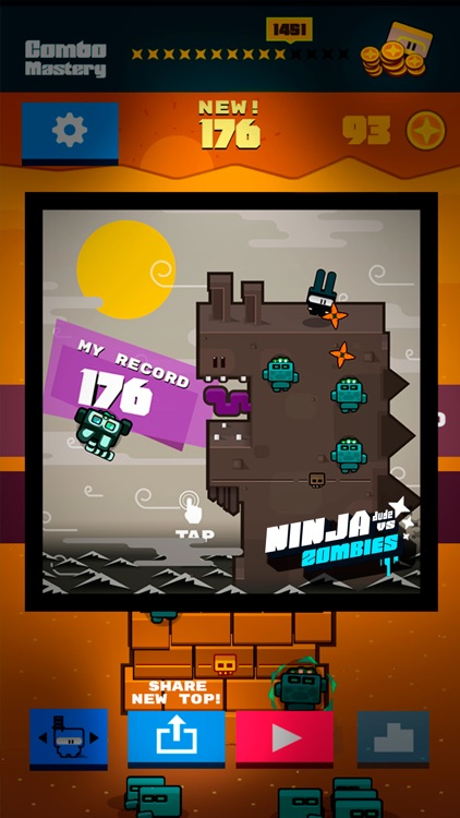 Ninja Dude vs Zombies - endless tap 'n' slash zombie arcade game screenshot-3