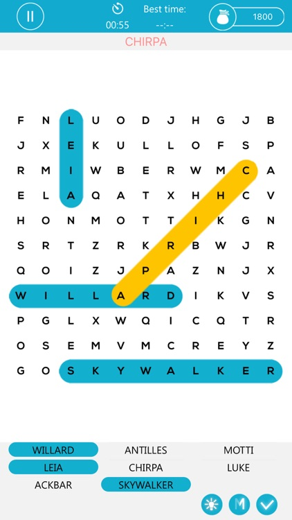 Word Search Puzzle for Star Wars - Crossword Game App