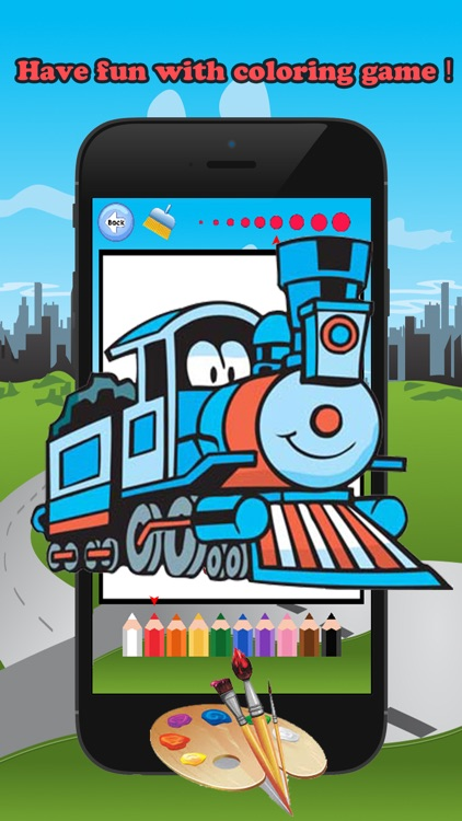 Train Friends Coloring Book for children age 1-10: Games free for Learn to use finger to drawing or coloring with each coloring pages