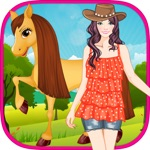 Cute Girl and Horse - Kids Game