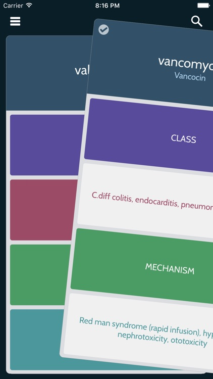 PharmDeck : Simple drug flash cards - class, mechanism, uses, side effects