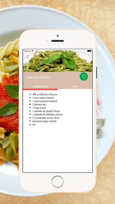 Recetas de Pastas screenshot four