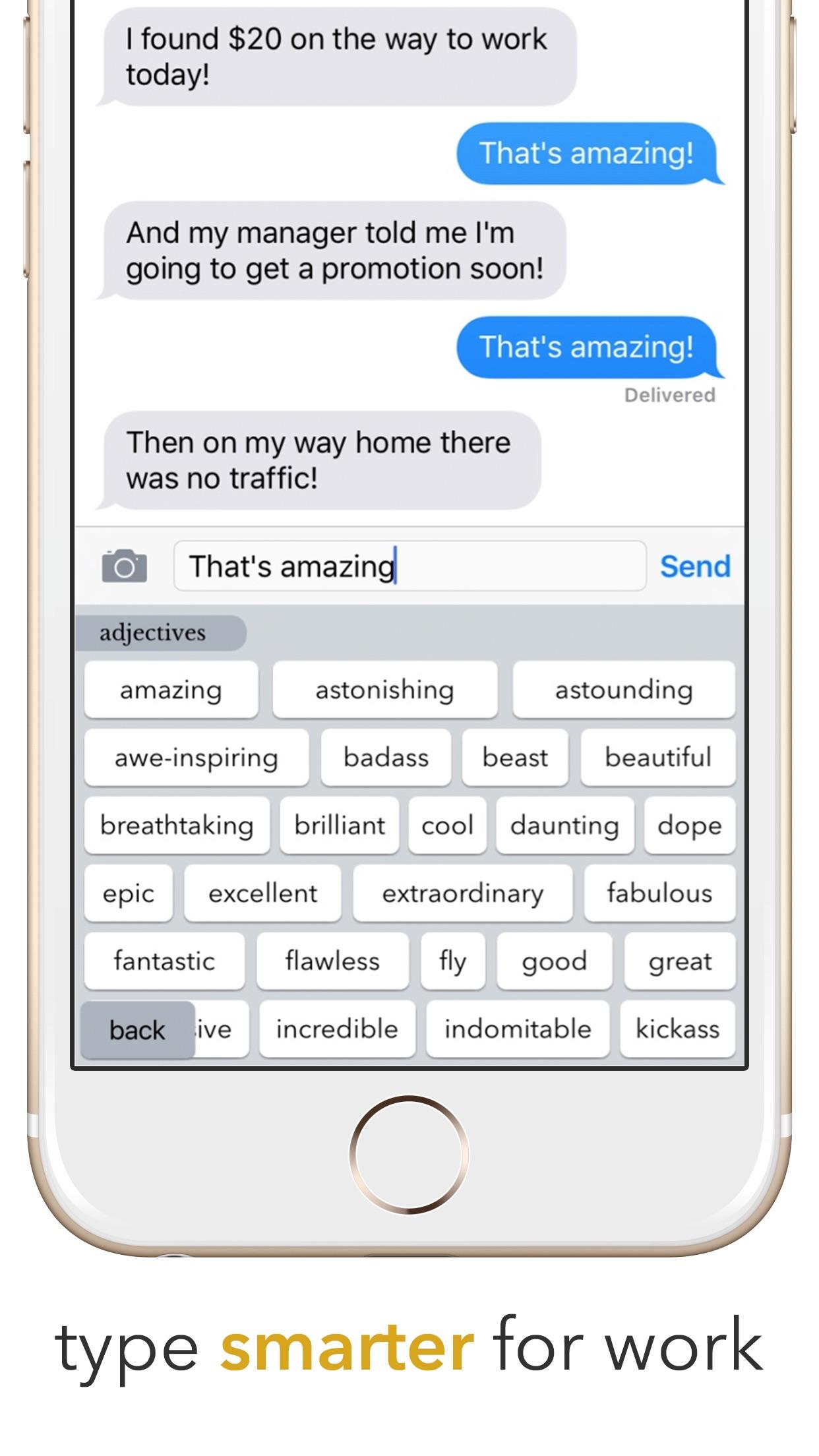 Hemingboard: Synonyms,Rhymes,Puns in Your Keyboard Screenshot