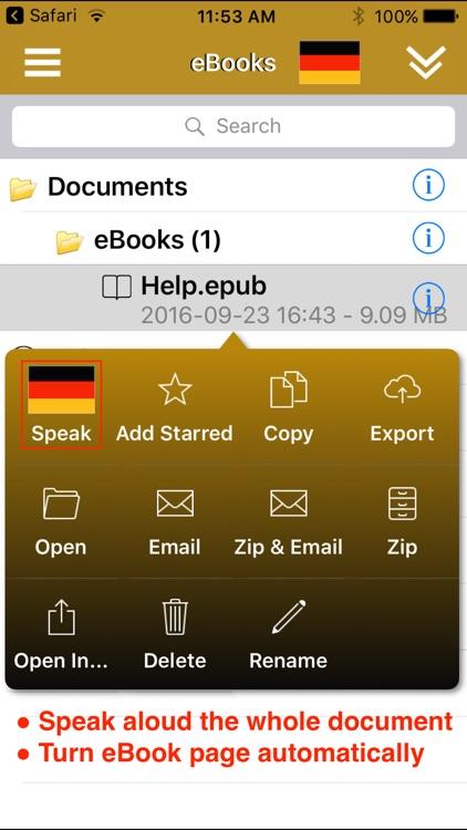 SpeakGerman 2 FREE (8 German Text-to-Speech) screenshot-3