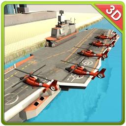 Helicopter Transport Ship Simulator- Flight game