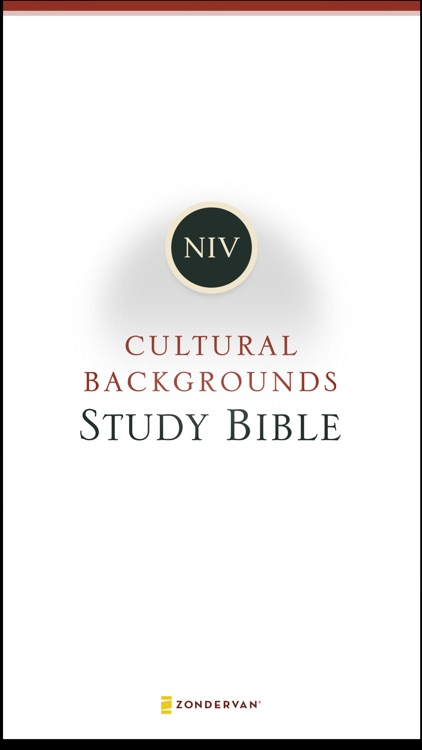 NIV Cultural Backgrounds Study Bible screenshot-0