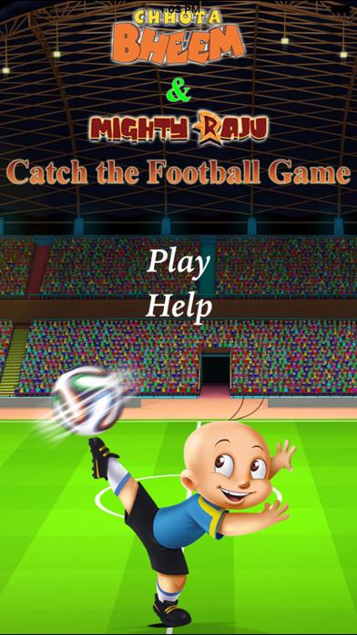 Chhota Bheem & Mighty Raju-Catch the Football Game screenshot one