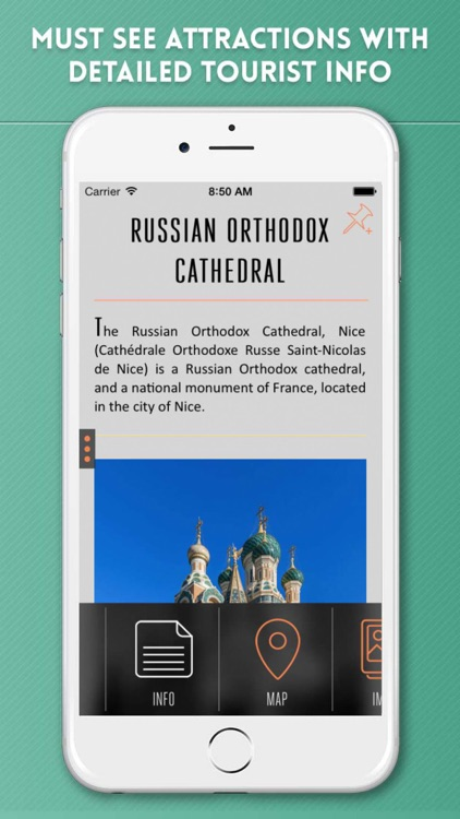 Nice Travel Guide with Offline City Street Map
