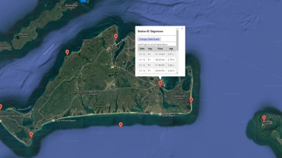Massachusetts Tide Chart Screenshot