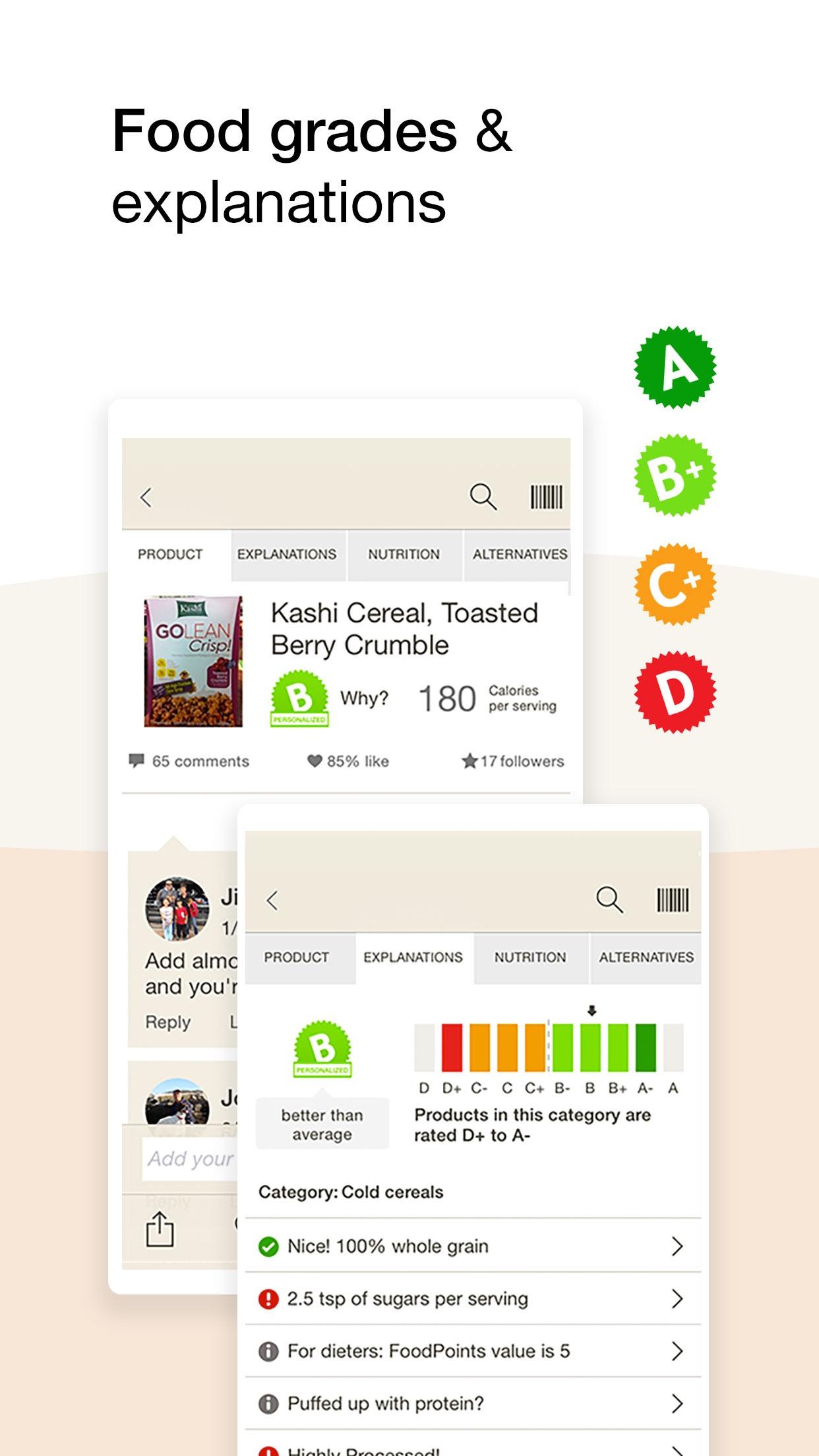 Fooducate Nutrition Tracker Screenshot