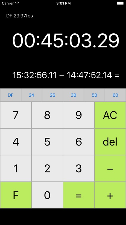 tcCalc - timecode & frame calculator by RYUICHIROU SHIMONO