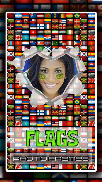 National Flag Picture Frame.s Rio: Team Color Game screenshot one